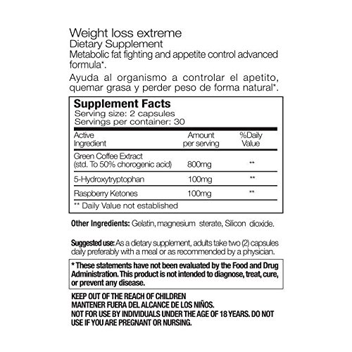 Paleo Life Weight Loss Extreme High Strength Natural Fat Burner Formula, Fights Food Anxiety Promotes Appetite Control 3 Months Supply 180 Capsules