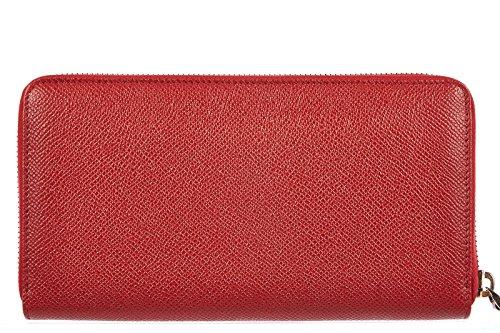 Valentino Garavani women's wallet leather coin case holder purse card bifold multi red