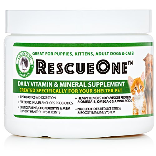 RescueOne-Hemp-Supplement-with-Nucleotides-Probiotics-and-Glucosamine-I-Immune-System-Digestion-and-Calming-Nutritional-Herbal-Vitamin-for-Dogs-Cats