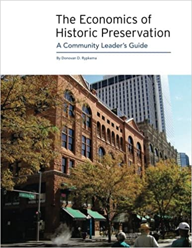 The Economics Of Historic Preservation A Community Leader S Guide Donovan D Rypkema Rypkema Donovan D 9780891333883 Amazon Com Books