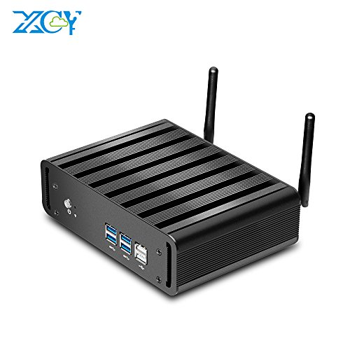 - XCY Mini PC Intel Core i5 5200U Windows10 Fanless Mini Desktop Computer,8G RAM and 128GB SSD,WiFi,HDMI+VGA