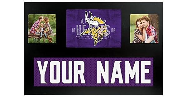 Amazon.com - Minnesota Vikings NFL Custom Jersey Nameplate and Logo Picture  Frame - 8ef513bb7