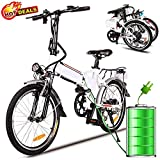 Hurbo Folding Electric Bike with Removable 36V 8Ah Lithium-Ion Battery,Lightweight and Aluminum E Bike with with 250W Powerful Motor and 7 Speed Shifter,Fast Battery Charger (19