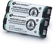GEILIENERGY HHR-P105 - Batería compatible con Panasonic HHRP105A HHR-P105B KX242 KX2420 KX-2420 KX2421 KX-2421