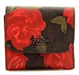 COACH Small Wallet with Camo Rose Floral Print