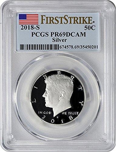2018 S Silver Proof Kennedy Half Dollar PR 69 DCAM First Strike PCGS