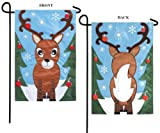 Christmas Garden Flag Santas Helper Two Sided