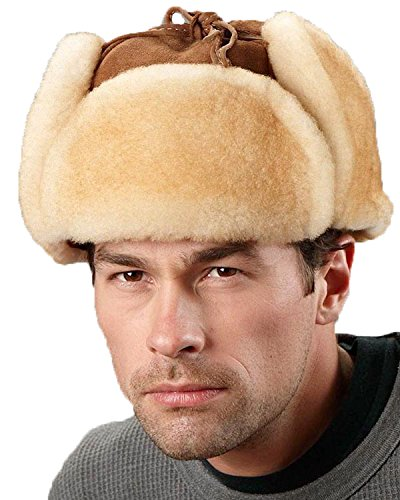 Frr Tan Trapper Hat - Alaska Shearling Sheepskin - 2XL