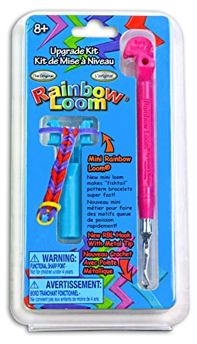 [Rainbow Loom Tail Upgrade Kit - Metal Hook - Pink] (Rainbow Tip)