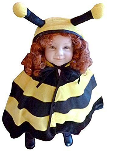 Fantasy World Boys/Girls Bee Halloween Cape Costume, One Size, An72