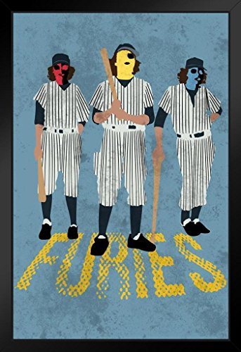 Baseball Furies Minimalist Movie Framed Poster 14x20