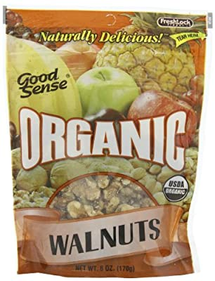 Good Sense Organic Walnuts, 6-Ounce Bags (Pack of 3) from Good Sense