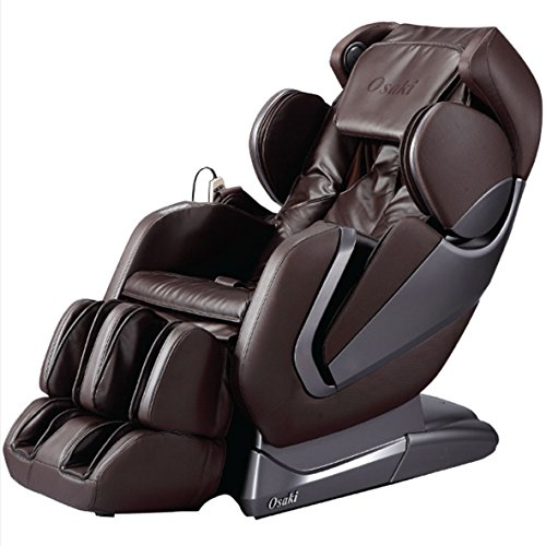 Titan Pro- Alpha Full Body Massage Chair, New Arm Design, L-Track Roller Design for Under Buttocks, Space Saving Feature, Zero Gravity Position, Foot Rollers (Brown)