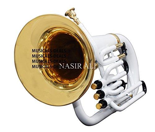 Nasil Ali Eu-3 Euphonium 3 Valve B-flat White by NASIR ALI