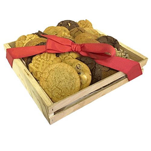"Cookies From Home ""Crate Expectations"" - Freshly Hand Baked Gourmet Cookies and Brownies Gift Set -54 Cookies 