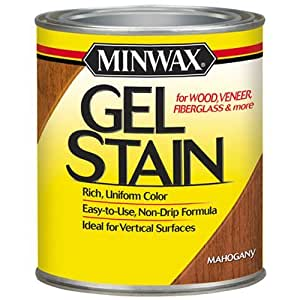 Minwax 66050000 Gel Stain , quart, Mahogany