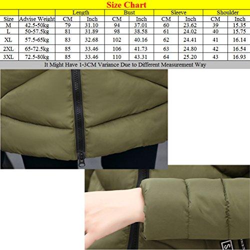 Zhhlaixing Abrigo de moda Fashion Cotton Women Slim Hooded Thick Fur Collar Down Jacket Quality Craftsmanship Gray