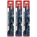 Siskiyou Seattle Seahawks Toothbrush - 3 Pack
