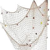 bathroom ceiling ideas YOAYO Decorative Fishing Net, Sea Theme Nautical Fish Net Decor for Home/Patio Wall Decoration,Photo Hanging Display Frames,79x59inches,Beige