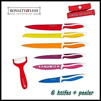 Compra La realeza de 7 piezas cuchillos suizo de policía de ...