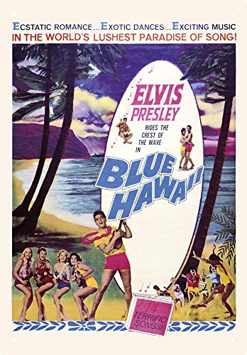 Aquarius Elvis Blue Hawaii 8 X 11.5 Tin Sign
