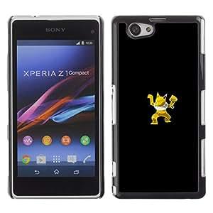 // PHONE CASE GIFT // Moda Estuche Funda de Cuero Billetera Tarjeta de crédito dinero bolsa Cubierta de proteccion Caso Sony Xperia Z1 Compact D5503 / Poke Monster Yellow Fox /