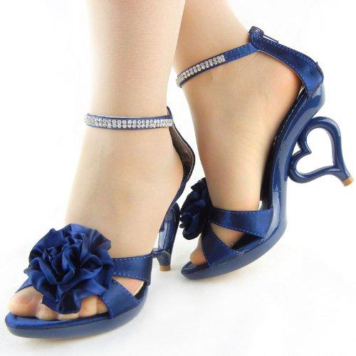 Mostra sposa caviglia removibile Blu cinturino Story SM33101 fiori 20 sposa da sandali alla scarpe scuro dei colori rqrzxZX