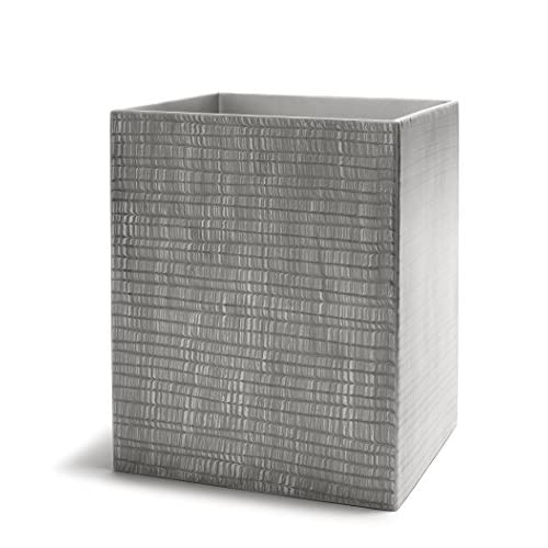 Kassatex Delano Bathroom Accessories (Waste Bin, Grey) hot sale