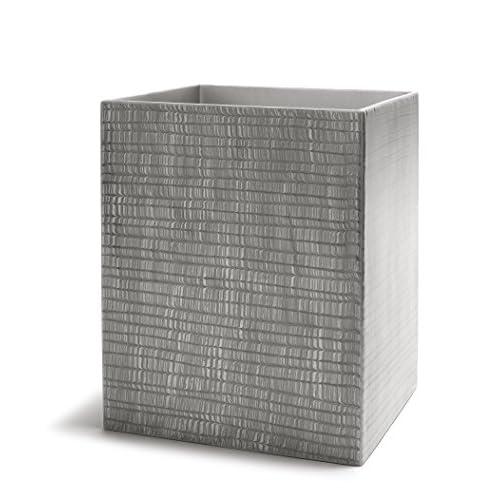 Kassatex Delano Bathroom Accessories (Waste Bin, Grey) hot sale VI2HEYgv