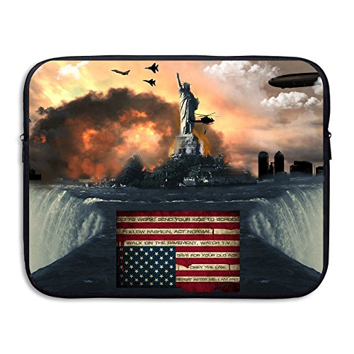 Business Briefcase Sleeve Amazing American Flag Laptop Sleeve Case Cover Handbag For 13 Inch Macbook Pro / Macbook Air / Asus / Dell / Lenovo / Hp / Samsung / Sony / Women & Men