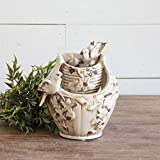 Nature's Garden Vintage Bird Tabletop Garden Fountain