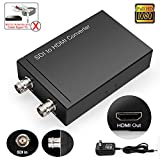 HD 3G SDI to HDMI Converter Splitter, ULBRE BNC to BNC 1080P Digital Coaxial to HDMI Adapter, Video Audio Synchronous Output, Compatible with Sony Professional Camcorders Camera TV CCTV
