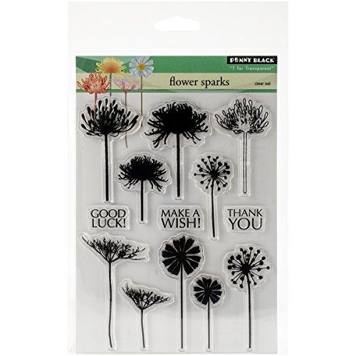 Penny Black 30-281 Flower Sparks Transparent Stamp Set