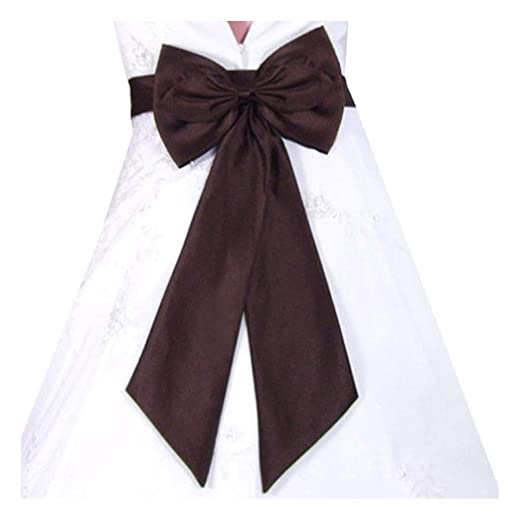 8fe0f9729b1 Amazon.com  SACASUSA (TM) Bridal Wedding Flower Girl Sash Belt with Satin  Bow in Brown  Adult Exotic Apparel Accessories  Clothing