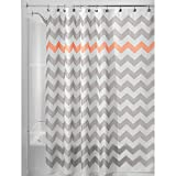 Pink and Grey Chevron Shower Curtain InterDesign Chevron Shower Curtain, 72 x 72-Inch, Light Gray/Coral