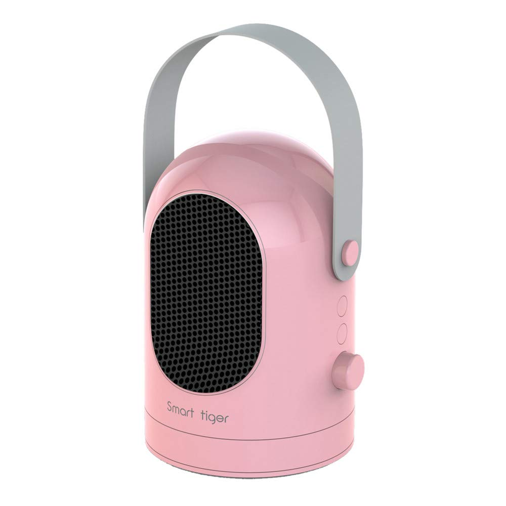 Hunpta@ Heating Fan 1PC Energy-saving Portable Desktop Mini Electric Heater Personal Air Heating Fan Hot Blowers Ideal for Small Rooms, Caravans and Garages (Pink)