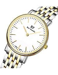 BETFEEDO Womens Waterproof Casual Classic Dress Analog Quartz Wrist Watch With 316 Stainless Steel (Two-Tone)