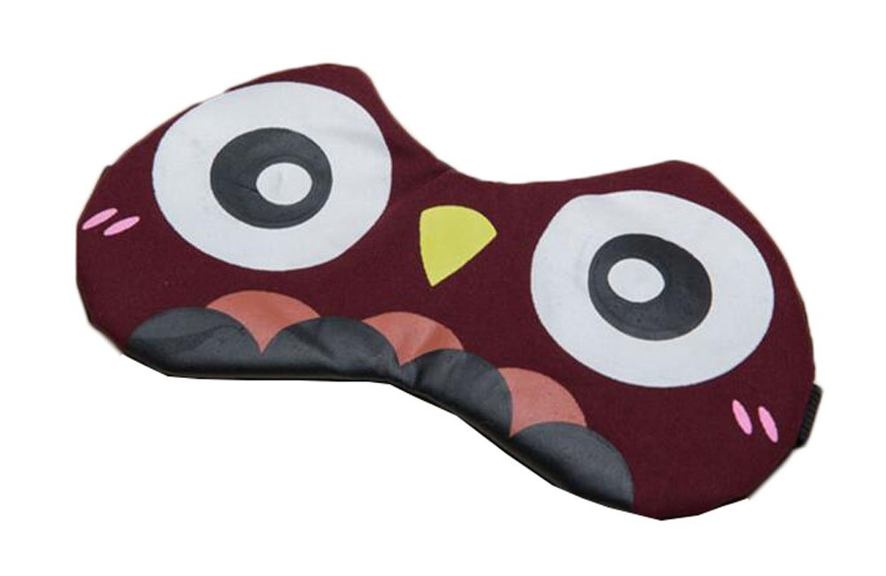 dolly2u Comfortable Eye Sleep Mask Purplish Red Owl Perfect for Travelers