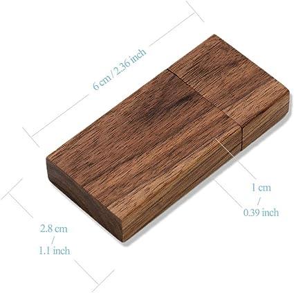 Jbos Usb Stick Aus Holz 8 Gb 10 Stück Walnussholz Elektronik