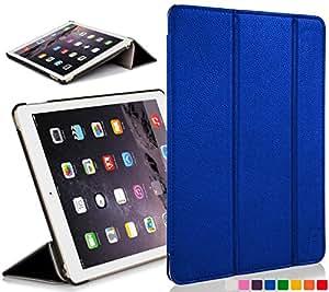 Funda de piel con Forefront Cases magnético de encendido y apagado para 20,07 cm Apple iPad Mini con pantalla Retina - Black_P azul azul iPad mini