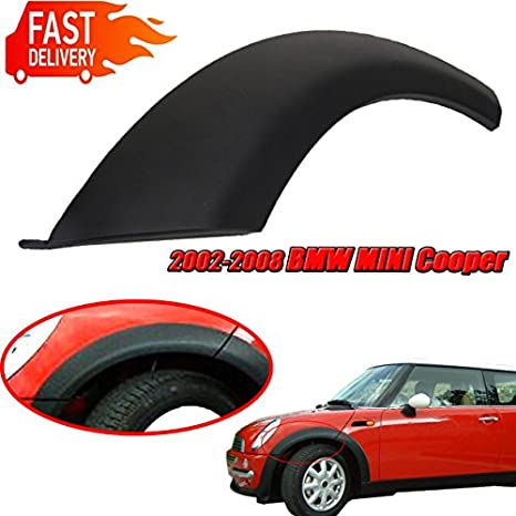 Fit For MINI One//One D//Cooper//Cooper S R50 R52 R53 1 Set for Mini Cooper Wheel Arch Trim Fender Hood Flares Passenger Right Side 2002-2008 51131505866 /& 51131505864