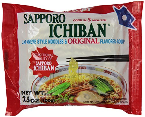 Sapporo Ichiban Noodle Instant Bag, Original, 3.5 Ounce (Pack of 24)