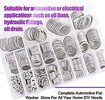 ALUMINIUM WASHERS M6 to M22 Various Quantities Sealing Washer