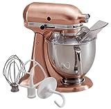 kitchen ad pasta maker - KitchenAid KSM152PSCP 5-Qt. Custom Metallic Series with Pouring Shield - Satin Copper
