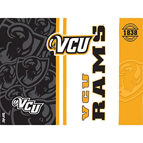 Tervis 1229763 VCU Rams College Pride Tumbler with Wrap and Black Lid 24oz, Clear by Tervis (Image #1)
