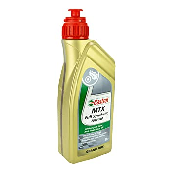 Castrol MTX SAE 75W-140 54098 - Aceite de Caja de Cambios, 54098 sintético MTX SAE 75 W-140, 1 litro: Amazon.es: Coche y moto