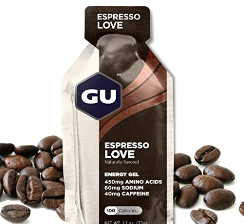 GU Original Sports Nutrition Energy Gel, Espresso Love, 24 Count