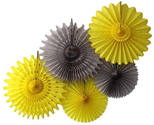 yellow paper fan decor - 8