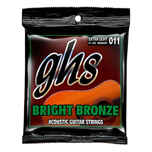 GHS BB20X Extra Light Bright Bronze Acoustic Guitar Strings (Ghs Bright Bronze Acoustic Guitar)