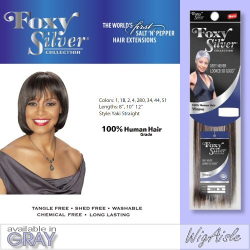 Amazon Foxy Natural Weave Straight12 Foxy Silver Human